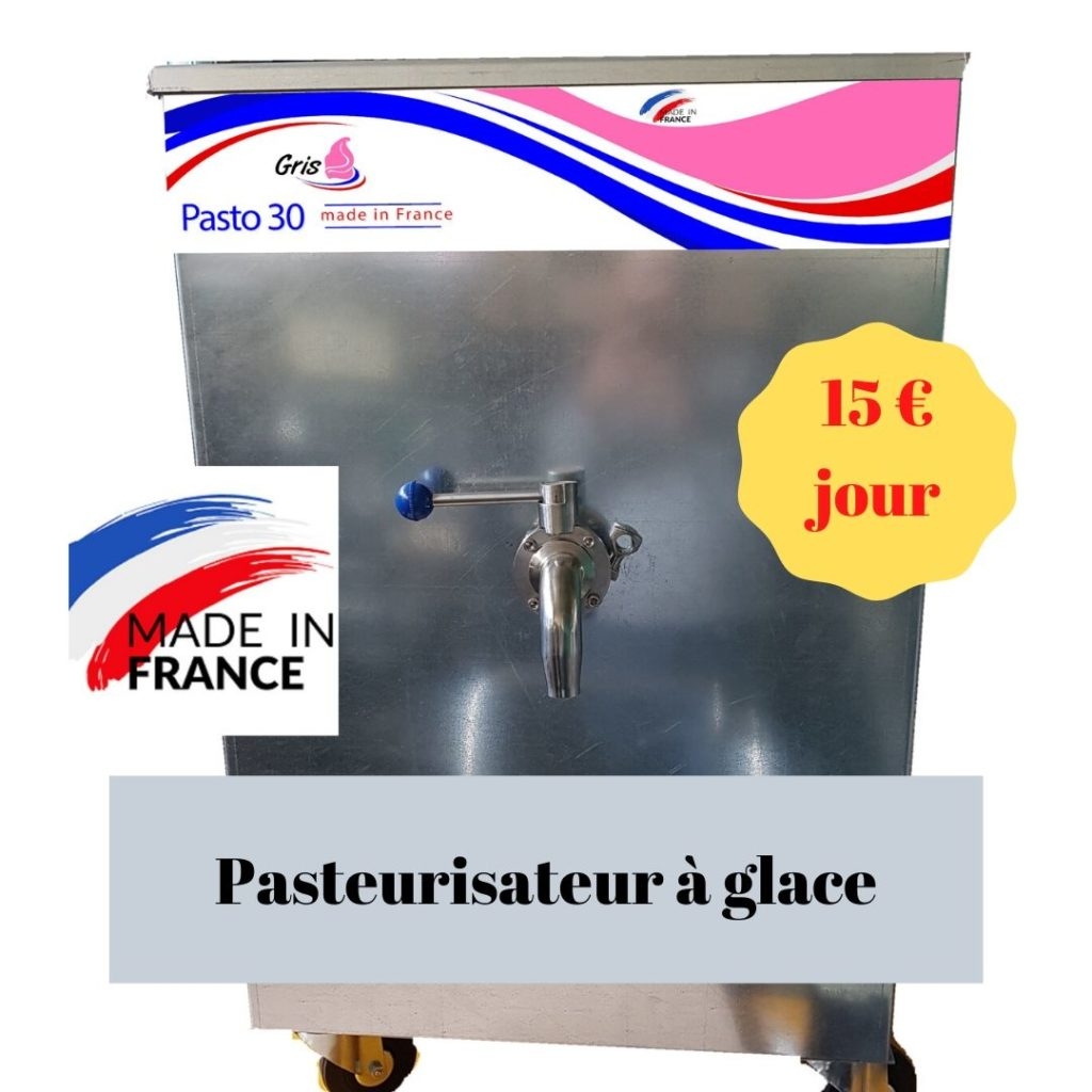 Pasteurisateur à glace 15 € jour sur  26 jours