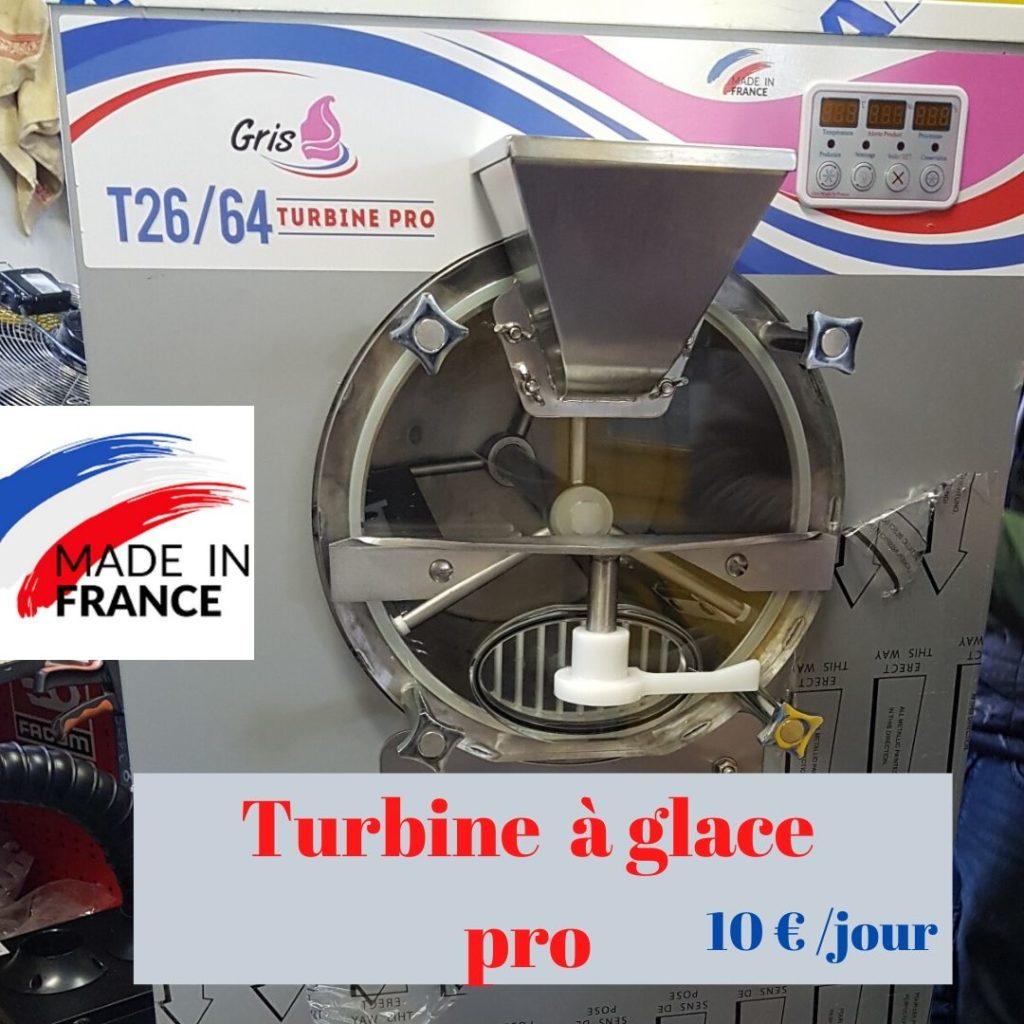 la turbine à glace gris constructeur 10 € par jour